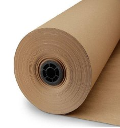 Plain Brown Kraft Paper Roll