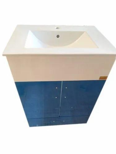 blue bathroom vanity basin