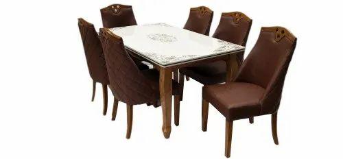 Shreeji 1 Table 6 Chairs Modern Dining Table Set Rs 42000 Set Id 23079467962