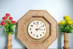 Round Analog Wooden Bamboo Wall Watches