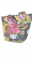 Cotton(inner) and PVC(Outer) Ladies Printed Handbag, For Casual Wear