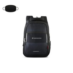 Harissons Polyester Speckle 36l Laptop Backpack With Matching Face Mask, Number Of Compartments: 2, Bag Capacity: 36 Litres