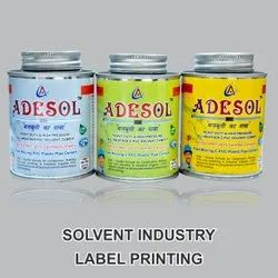 Solvent Industry Label Printing Service