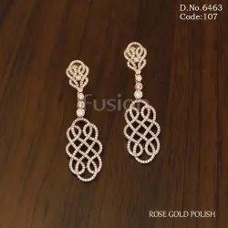 Fusion Arts Rose Gold Earrings