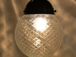 Clear Cut Glass Hanging Light