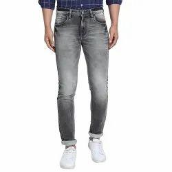 Slim Fit Casual Wear Mens Mid Rise Denim Jeans, Waist Size: 32