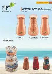 950 Pure Copper Water Pot, For Home
