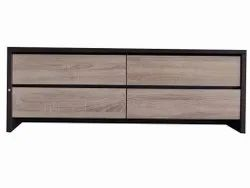 Brown Rectangular Tv Table With 4 Drawer, For Home, Size: 6 X 3 Feet