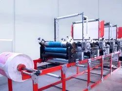 Flexo Printing With Rewinding Machine
