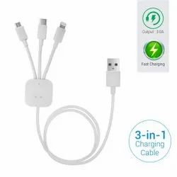 Konnect-trio 3-in-1 Multi-functional Usb Cable (white)
