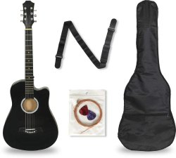38C Acoustic Guitar with Full Kit (Made in India)