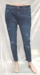 Plain Blue Jeans Ankle Length, Size: 28 To 36