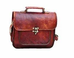 Handmade Unisex Leather Shoulder Handbag, Size: 7