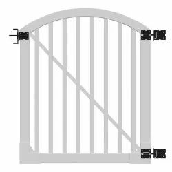 Hinged Silver SS Fabrication Gate, For Residential