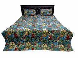 Frida Kahlo Print Quilted Bed Comforter