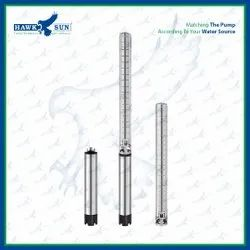 4 5HP AC Semi SS Solar Submersible Pump Set