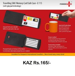 Travelling SIM / Memory Card Safe Case