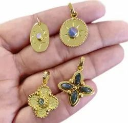 Gold Vermeil Gemstone Pendant - Jeweler Making Pendants