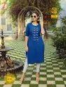Aradhana Fashion Rainbow Vol 3 Embroidery Work Cotton Kurti Catalog