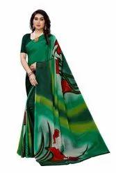 Crepe Printed Fancy Saree