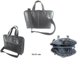 Black Leather Office Bag