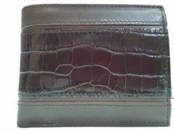 Brown Bi Fold Men Leather Wallet