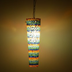 Glass Mosaic Hanging Light