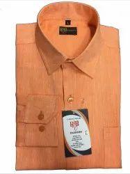 100 % Cotton Linen Plain Men Formal Wear Shirts, Machine wash