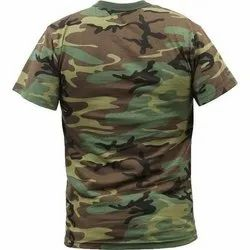 Military T Shirt Made With Camouflage Fabric
