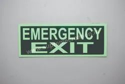 Rectangular Green Emergency Exit Sign, For Industrial, Dimension: 100x300 Mm