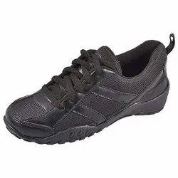 Boys School Black Sport Shoes, Size: 5
