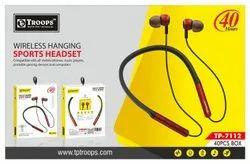 TP Troops 40 Hrs Wireless Hanging Sports Headset 7112 Earphone