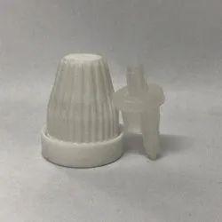 White Polypropylene 18 Mm Temple Dropper Caps For Pharmaceutical