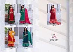 Panch Ratna Mix Sun City Jam Silk With Work Salwar Kameez Set