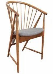 Jassi Brothers Brown + Grey Modern Designer Wooden Chair
