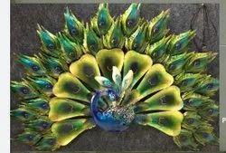 Peacock Design Wall Decor