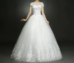 Christian Wedding Gown Catholics Gown HMD16050083 With Sleeves