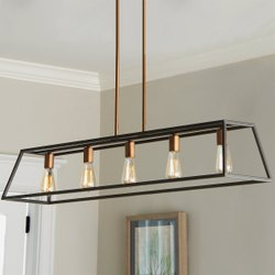 LED Iron Rectangular Chandelier 5 Light, Model Name/Number: DC0011a