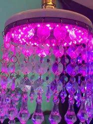 Round Ceiling Pink LED Jhoomar