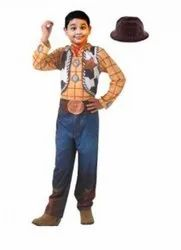 Cotton Multicolor Toy story woody costume