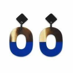 Metal Casual Wear Horn Earrings