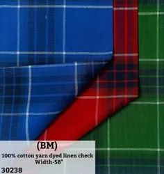 100% Cotton Yarn Dyed Check Shirting Fabric