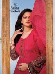 Azara Simran Crape Digital Printed Dress Material Catalog