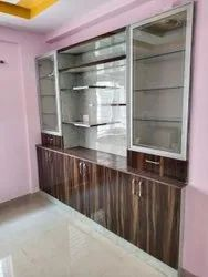 Wooden Glass Show Case For Home