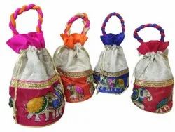 Rope Handle Function,Marriage Embroidered Potli Bags