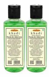 Khadi Herbal Neem & Aloe Vera Shampoo 210ml Pack Of 2 ( free Worldwide Shipping)