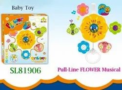 Abs Plastic FLOWER MUSICAL PULL LINE BABY TOY
