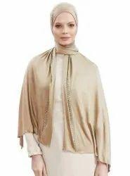 Diamond Stone Work Hosiery 4 Way Women Scarf Hijab