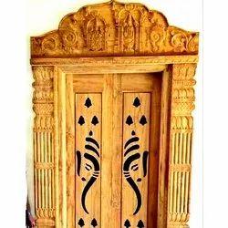 Pooja Room Door Design Wood Carvings, Size: Min
