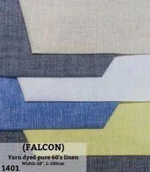 Falcon Yarn Dyed Pure 60''s Linen Shirting Fabric